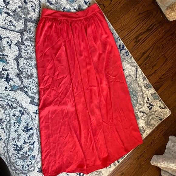 Banana Republic Flowy Maxi Skirt 4 rust